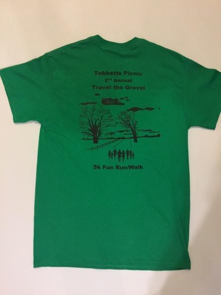 5k t-shirt back 2019